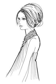 Hairstyles to match dress necklines