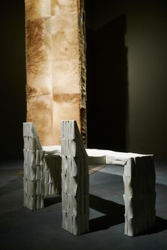 Rick Owens: Furniture at LA MOCA in Los Angeles.