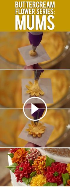Learn how to pipe buttercream mums! Let Beth Somers show you tips and techniques on how to create beautiful buttercream mums to top off your cakes and cupcakes. Stay tuned to see what buttercream flowers Beth will pipe next.