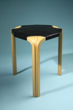 Stool, Fan leg stool. Designed by Alvar Aalto for Artek