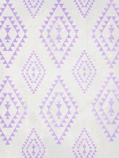 purple & gray tribal pattern Art Print