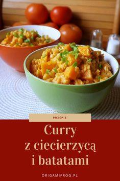 Przepis na curry z ciecierzyca i batatami - szybki pomysł na obiad Curry, Ethnic Recipes, Food, Curries, Essen, Meals, Yemek, Eten