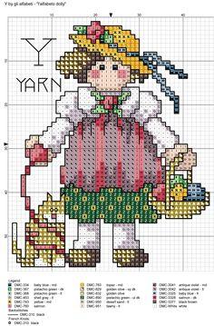 alfabeto dolly: Y = yarn
