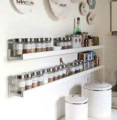 Prateleira porta temperos cozinha 90cm mdf branco