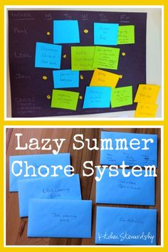 This simple lazy summer chore system using envelopes was born out of some serious Mommy guilt - it is fail-proof and flexible!