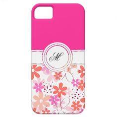 Girly iPhone case with beautiful pink flowers and space to add your text name / initial etc. Specially for young girls or gift for any one you love.. for her , for him , for kids or any family member father son daughter mother brother sister , wife , husband, or in law s in holidays, birthday, wedding, anniversary, mother's day, easter, christmas or any special event or occasion!