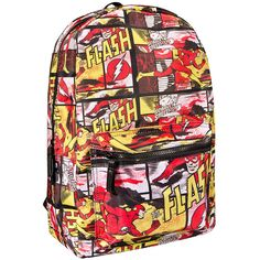 The Flash Backpack (Multi Coloured) ($54) ❤ liked on Polyvore featuring bags, backpacks, backpack, colorful backpacks, day pack backpack, rucksack bag, multicolor bag and multi colored backpacks