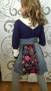 La Mine: Frühlingsmantel - Upcycling Sewing, Floral, Skirts, Fashion, Upcycled Crafts, Old Clothes, My Daughter, Winter Coat, Projects
