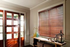 Simplicity and #style with #wooden blinds. Classic wood #blinds add #privacy and elegance to #windows big and small. Consider using a wood stained in a rich warm hue which plays nicely off of other wood tones adding additional warmth to the space. Remember to adjust the angle of your blinds throughout the day to capture the #sunlight and enhance the mood #morning, noon and night.