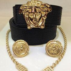 Silver Earrings Clip On Versace Jewelry, Luxury Jewelry, Custom Jewelry, Unique Jewelry, House Of Versace, Jewelry Accessories, Fashion Accessories, Swagg, Silver Jewelry