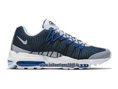 factory authentic bd89a a4d52 Nike Air Max 95 Ultra Jacquard - Chaussures Nike Pas Cher Pour Homme Bleu  nuit marine/Bleu électrique/Bleu photo/Blanc 749771-401