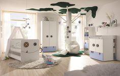 now by hülsta Babyzimmer-Komplettset now minimo (Set Now by HülstaNow! by Hülsta Small Boys Bedrooms, Kids Bedroom, Bedroom Ideas, Blue Bedroom, Trendy Bedroom, Cot Mattress, Mattress Covers, Changing Unit, Toddler Furniture