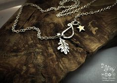 handmade silver oak leaf charm for a tree sculpture, necklace or bracelet