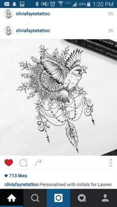 Gorgeous tattoo idea by Olivia Fayne.