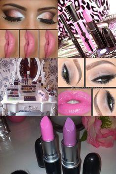Pink mac makeup and lipstick