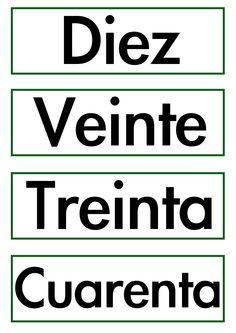 Etiquetas para trabajar con las fichas de las decenas