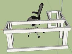 l shaped desk plans diy - Google Search