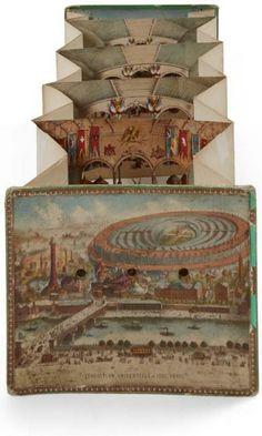 Peep-show «Exposition universelle 1867 Paris» Illustrations de Faisandier, imprimeur Lemercier 22 x 27,5 cm