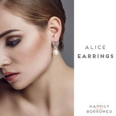 These sparkling pearl studs  from Bekah Anne will sure make you feel complete on your big day! Want them? Rent them NOW before it's too late!  https://www.happilyeverborrowed.com/collections/earrings/products/alice-earrings?variant=17999251077 #keepcalmborrowon