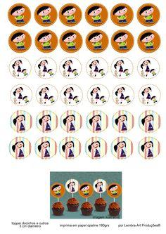 toppers docinhos SHOW DA LUNA - kit para impressão gratuita