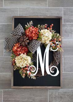 WreathDreams on Etsy Diy Wreath, Grapevine Wreath, Wreath Making, Wreath Ideas, Fall Wreaths, Mesh Wreaths, Christmas Wreaths, Initial Door Wreaths, Chevron Burlap