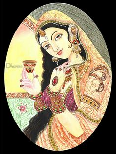 Mughal Paintings, Tanjore Painting, Indian Art Paintings, Indian Traditional Paintings, Traditional Art, Rajasthani Painting, Indian Wedding Invitation Cards, Bathroom Crafts, Marble Painting