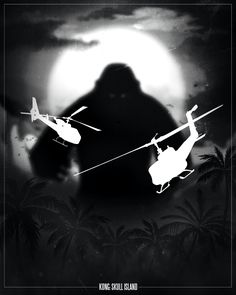 film noir style design of movie posters king kong