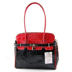 Image detail for -Home › Handbags › Shoulder Bags › Two-tone Red & Black ...