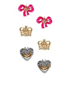Juicy Couture Mix n Match Heart Studs - StyleSays