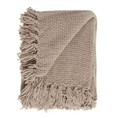 Home Collection Taupe chunky chenille throw- at Debenhams Mobile