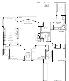 I wish that I had seen this before we built our house! I LOVE This floor plan! I would move utilities into the master closet, make the garage a doggy area with heat/air and put a doggy tub in there too. I WANT this house! House Plans One Story, One Story Homes, Ranch House Plans, New House Plans, Dream House Plans, Story House, Small House Plans, House Floor Plans, Good House