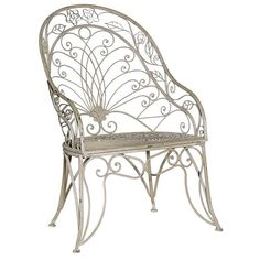 4b6f7d13a5a7 Our Grey-Wash metal high back garden chair has an ergonomic shape of the  metal to compliment your natural resting position.