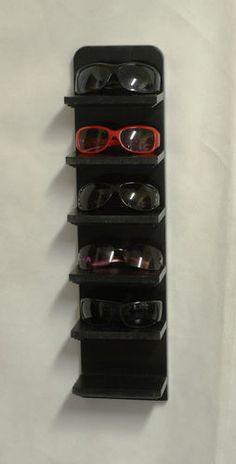 "24"" Black Wall Hanging Sunglass Eyeglass Display Shelf Rack Organizer Solid   eBay"