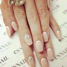 Nude polish #nailart #nails #polish #mani - Share/explore more nail looks at bellashoot.com!
