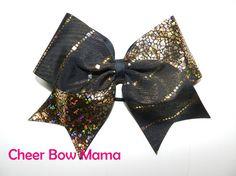 Black & Gold Cheer Bow by Cheer Bow Mama
