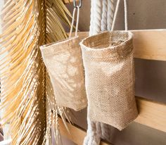 Items similar to Set of 4 Hanging Basket, Burlap Hanging Bag,hanging planter, wall hanging storage on Etsy - Domenic Harmer Wall Hanging Storage, Diy Hanging, Hanging Planters, Hanging Baskets, Sisal, Diy Teepee, Coffee Sacks, Burlap Sacks, Burlap Crafts