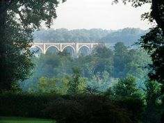 """The old """"Nickle Bridge"""" over the James River, near Byrd Park in Richmond, Virginia, USA."""