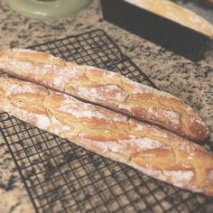 This is grain-free, nut-free, coconut-free, gluten-free (obviously) and has the crust and elasticity of the real thing. It can be shaped into a traditional baguette shape or enjoyed as sandwich bread if made in a regular loaf pan.