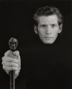 Robert Mapplethorpe (November 4, 1946 – March 9, 1989) was an American photographer, known for his large-scale, highly stylized black and white portraits, photos of flowers and nude men. The frank homoeroticism of some of the work of his middle period triggered a more general controversy about the public funding of artworks. 'Self Portrait', 1988 © Robert Mapplethorpe Foundation