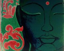 Buddha print - Buddha Face - Buddha wall art - Meditation art - Spiritual art - Zen art - Feng shui - Buddha gifts (unmatted/unframed)