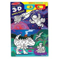 EASY-TO-SEE 3-D COLORING PUZZLE