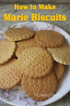 How to Make Marie Biscuits at Home is part of Marie biscuit - Recipe Source Here Marie biscuits can be made easily at home This biscuits taste so good just like the real ones This biscuits can be stored in a air tight container for 3 to 4 days Homemade Oreo Cookies, Eggless Cookie Recipes, Eggless Baking, Cake Recipes, Snack Recipes, Snacks, Healthy Recipes, Healthy Eats, Biscuit Recipe For Kids