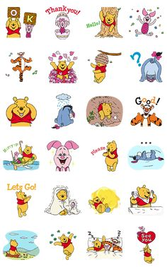 Winnie The Pooh Animated Stickers Winnie The Pooh Drawing, Cute Winnie The Pooh, Winne The Pooh, Eeyore, Tigger, Mickey Mouse Wallpaper, Character Wallpaper, Pooh Bear, Cute Stickers