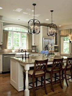 Modern french country kitchen decorating ideas (60)