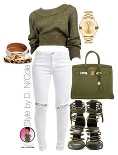 """""""Untitled #2669"""" by stylebydnicole ❤ liked on Polyvore featuring Hermès, Alaïa, FiveUnits, Giuseppe Zanotti, The Limited and Movado"""