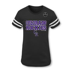 325779a96 Cheer on the Colorado Rockies in style with this official MLB Girls  short  sleeve t-shirt. This sports apparel tee makes your allegiance unmistakable  with ...