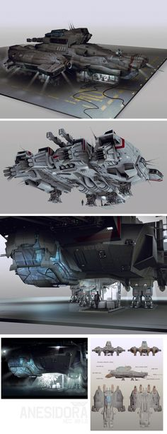 ArtStation - Alien Isolation_Ships&ship interior, Brad Wright