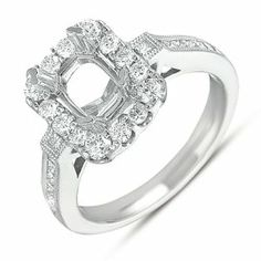 14K White Gold 0.82cttw Round Diamond Semi Mount Engagement Ring Jewelry Pot. $2240.99. Your item will be shipped the same or next weekday!. 30 Day Money Back Guarantee. All Genuine Diamonds, Gemstones, Materials, and Precious Metals. Fabulous Promotions and Discounts!. 100% Satisfaction Guarantee. Questions? Call 866-923-4446