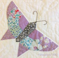 Fabadashery: #2 Butterfly Quilt - Techniques and Construction