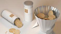 Uma versao alternativa para a embalagem de Pringles - a lata vira 1 tigela